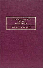 Cover of: Five Jewish lawyers of the common law