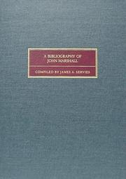 Cover of: A bibliography of John Marshall