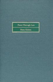 Cover of: Peace through law