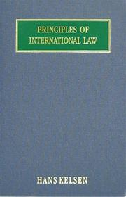 Cover of: Principles of international law
