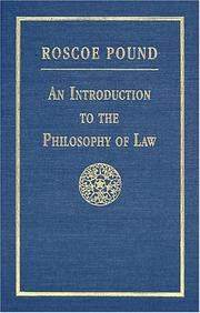Cover of: An introduction to the philosophy of law