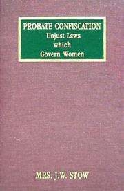 Cover of: Probate confiscation | Stow, J. W. Mrs.