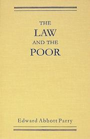 Cover of: The law and the poor