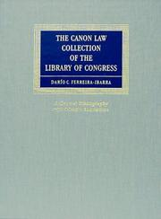 Cover of: The canon law collection of the Library of Congress: a general bibliography with selective annotations