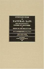 Institutes of natural law by T. Rutherforth