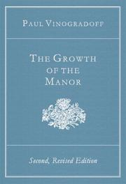 Cover of: The Growth of the manor