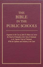 Cover of: The Bible in the public schools |