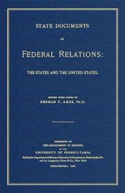 Cover of: State documents on federal relations |