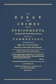 Cover of: An Essay on Crimes And Punishments | Cesare Beccaria