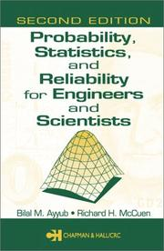Cover of: Probability, statistics, and reliability for engineers and scientists