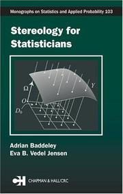 Cover of: Stereology for Statisticians (Monographs on Statistics and Applied Probability) | Adrian Baddeley