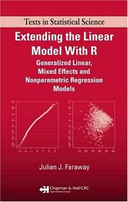 Cover of: Extending the Linear Model with R | Julian J. Faraway