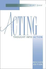 Cover of: Acting | Kurt Daw
