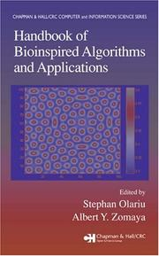 Cover of: Handbook of bioinspired algorithms and applications |