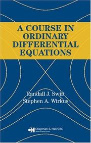 Cover of: A Course in Ordinary Differential Equations | Randall J. Swift