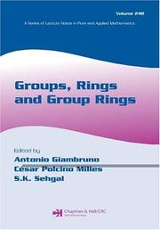 Cover of: Groups, rings, and group rings |