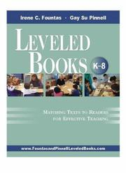 Cover of: Leveled books (K-8): matching texts to readers for effective teaching
