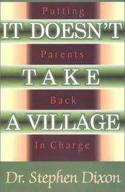 Cover of: It doesn't take a village