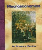Cover of: Principles of Macroeconomics | N. Gregory Mankiw
