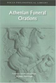 Cover of: Athenian Funeral Orations (Focus Philosophical Library) | Judson Herrman