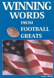 Cover of: Winning Words From Football Greats