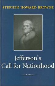 Cover of: Jeffersons Call for Nationhood