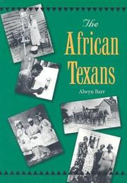Cover of: The African Texans (Texans All)