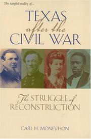 Cover of: Texas after the Civil War | Carl H. Moneyhon
