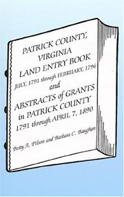 Cover of: Patrick County, Virginia, Land Entry Book