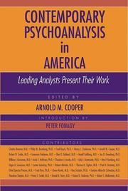 Cover of: Contemporary Psychoanalysis in America