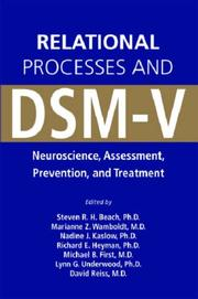 Cover of: Relational Processes and DSM-V |