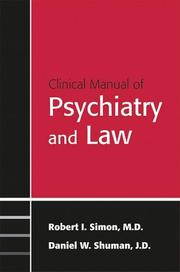 Cover of: Clinical manual of psychiatry and law