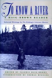 Cover of: To Know a River | Valerie Haig-Brown