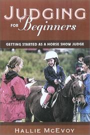 Cover of: Horse show judging for beginners