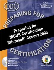 Cover of: Preparing for MOUS certification Microsoft Access 2000