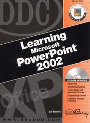 Cover of: DDC Learning Microsoft PowerPoint 2002 (DDC Learning Series)