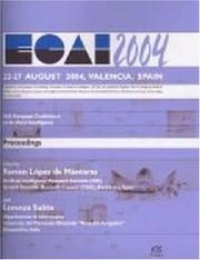 Cover of: Ecai 2004 (Frontiers in Artificial Intelligence and Applications,) |