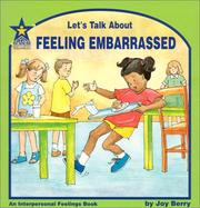 Cover of: Let's talk about feeling embarrassed