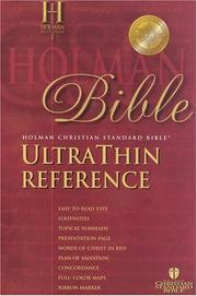 Cover of: The Holman Ultrathin Reference Bible |