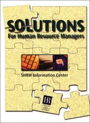 Cover of: Solutions for Human Resource Managers