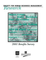 Cover of: 2001 Benefits Survey