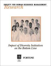 Cover of: Impact of Diversity Initiatives on the Bottom Line (Research (Society for Human Resource Management (U.S.)).)