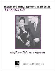 Cover of: Employee Referral Programs (Research (Society for Human Resource Management (U.S.)).)