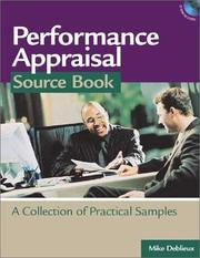 Cover of: Performance Appraisal Source Book
