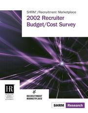 Cover of: 2002 Recruiter Budget/Cost Survey