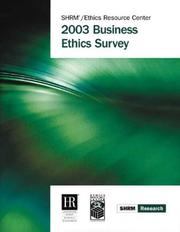 Cover of: 2003 Business Ethics Survey (Shrm Research)
