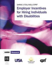 Cover of: Employer Incentives for Hiring Individuals with Disabilities
