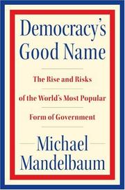 Cover of: Democracy's Good Name