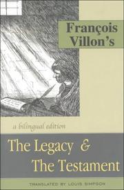 Cover of: The legacy: & The testament