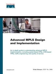 Advanced MPLS Design and Implementation by Vivek Alwayn